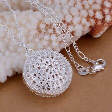 Women Fashion 925 Silver Plated Chain Girl Beautiful Necklace With Pendant Box