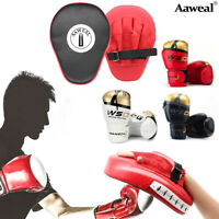 Boxing Bag Gloves with MMA Focus Pads Set Hook & Jabs Mitts Punch Bag Training