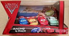 Disney Pixar Cars 2 RACING 4-PACK~Denise Beam, Raoul,Miguel Camino & McQueen