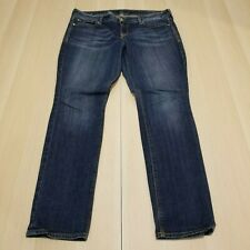 EXPRESS WOMEN'S  DARK WASH SLIM ANKLE SKINNY DENIM JEANS STRETCH SIZE 12 REGULAR