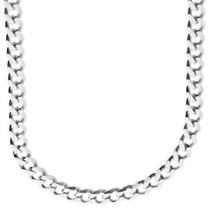 925 Sterling Silver Bling Chain - CURB 6.7mm