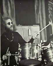STU MARTIN clipping jazz drummer Gary Burton Quartet live B&W photo Ambush