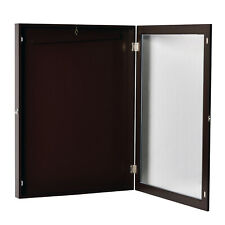 31.5� Lockable Jersey Display Case Football Baseball Shadow Box Cabinet Hanger
