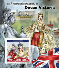 Sierra Leone 2016 MNH Queen Victoria 115th Memorial Anniv 1v S/S Royalty Stamps