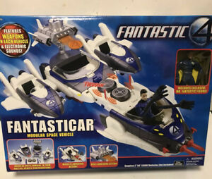Fantastic 4 Fantasticar Modular Space Vehicle New In Box with Mr Fantastic