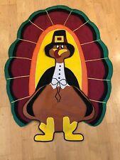 New listing Large Decorative Applique Garden Flag Tom the Thanksgiving Turkey 27 x 37