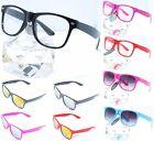 80s Retro Wayfarer Nerd Brille Hornbrille o.Stärke Neu