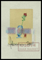 Flower in Glass Misprint proof = Signed ART PRINT = Cathy Peterson Embellished