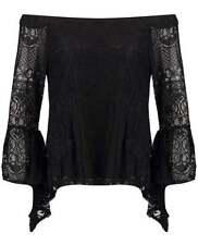Cotton Blend Off-Shoulder Sleeve Blouses for Women