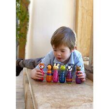 Orange tree toys wooden skittles christening new baby gift  boy girl woodland