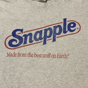 Vintage Snapple Drinks 90s Promo T Shirt Classic Logo Distressed Size XL