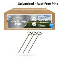 Circle Top Pins 500 Pack 6 Inch ~Landscape Staples SOD Garden Stakes - Sandbaggy