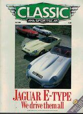 Classic & Sports Car Magazine 1989 July Jaguar E Type Alfa GTV GTV6  4386F