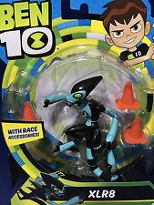 """NEW 2017 Ben 10 - XLR8 - 5"""" Action Figure PLAYMATES TOYS Race Accessories RACE"""