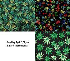 Marijuana Print Home Decor Fabric Cotton 57