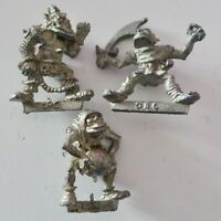 1985 GAMES WORKSHOP WARHAMMER 40K  - METAL ORC FIGURES