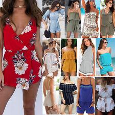Donna Party Playsuit Pagliaccetto Beach Vestito Casual Jumpsuit Shorts Tuta