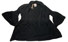 BAILEY 44 / A PEA IN THE POD Jacket SZ S Black Stretch Knit No Closures Made USA