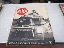 REVUE MAGAZINE MATCH 31 AOUT 1939 ACTUALITE MONDIALE BLINDE *