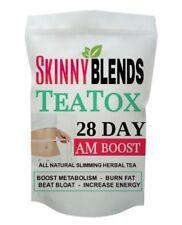 28 DAY SKINNY DETOX TEA AND TEA INFUSER - BEAT BLOAT BOOST ENERGY BURN FAT