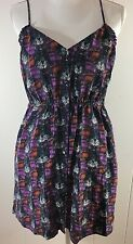 ECOTE URBAN OUTFITTERS SIZE Large SILK SunDRESS MULTICOLOR buttons Festival Q1