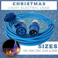 CHRISTMAS DECORATIONS EXTENSION LEAD 5M-25M BLUE CHRISTMAS LIGHTS ELECTRIC LEAD