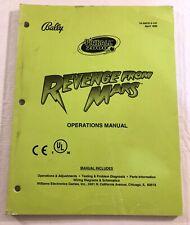Bally Pinball 2000 Revenge From Mars Operations Manual 16-50070.2-101 April 1999