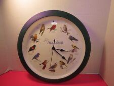 "Audubon Singing Birds Clock 13"" Diameter Tested Working Video"