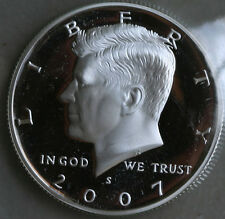2007 S Proof SILVER Kennedy Half Dollar Coin 50 Cent JFK from US Mint Proof Set