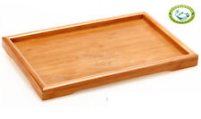 Red Bamboo Gongfu Tea Serving Tray Tabletop 295*190mm US Stock