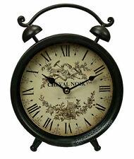 Nostalgie Dekowecker Cheval Noir französischer Landhausstil braun Uhr Standuhr