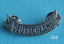 Deutschland Schrift Biker Motorrad Abzeichen Pin Button Anstecker Sticker # 264