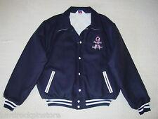 BREAST CANCER AWARENESS ~ Hard Rock Cafe PINK RIBBON Wool Womens Varsity Jacket