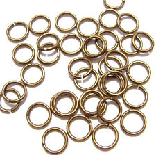 4421FY BULK Antique Brass Finish Steel Jumpring Opened JUMP RINGS, 7mm 500 Qty
