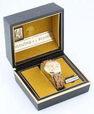 Vintage 14k Yellow Gold Bulova Accutron Watch Movement 218 w/ Original Box