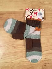 Roxy Knit Mittens Fall Autumn Colors Brown One Size