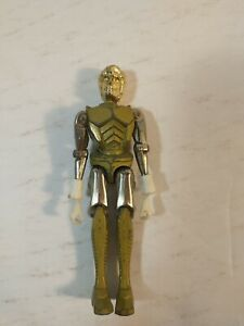 Vintage Mego Micronauts Space Glider Figure 1975 Yellow Gold