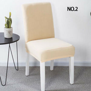 Universal Chair Cover Spandex Strech Dinner Solid Chair Wedding Party Seat Cover