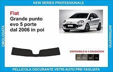 fasce parasole vetri Fiat grande punto evo 5 porte dal 2006 in poi