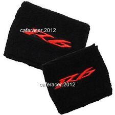YAMAHA R6 BRAKE/CLUTCH RESERVOIR SOCKS FLUID TANK CUP COVER SET BLACK&RED