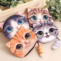 Coin Bag Purse Fashion Cute Cartoon Cat Small Coin Purse Wallet With Zipper
