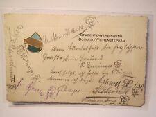 Weihenstephan Freising  Studentenverbindung Donaria 1912 Farbschild / Studentika