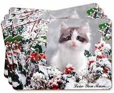 Pretty Kitten 'Love You Mum' Picture Placemats in Gift Box, AC-72lymP