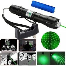 5mw 532nm Green Laser Pointer Best Sell Pen Star Cap Belt clip + Battery+Charger