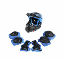 CIGNA Kids Bicycle Bike Convertible Helmet Blue S-size w/Blue protective pads