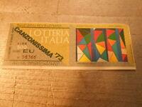 pubblicita' BIGLIETTI LOTTERIA ITALIA '73 -CANZONISSIMA vintage COLLEZIONE