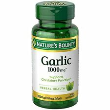 4 Pack - Nature's Bounty Garlic 1000 mg Softgels 100 Each