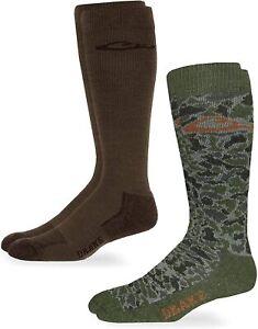 Drake Mens Merino Wool Ultra-Dri Insulated Camo Tall Boot Over Calf Liner Socks
