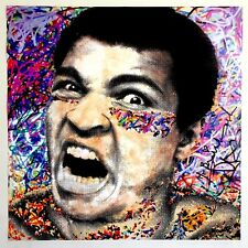 "MR. BRAINWASH "" MUHAMMAD ALI "" AUTHENTIC LITHOGRAPH PRINT POP ART POSTER"