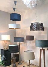 Stehleuchte Industrial Design Stehlampe Stand-Leuchte Metall Vintage Fell Plüsch